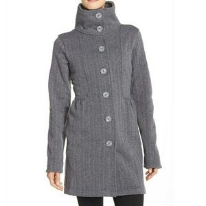 Patagonia Better Sweater Button Front Shirred Coat